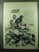1969 Converse Shoes Ad - Step Into Converse The Pros Do