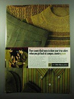1969 Sears King's Road Collection Ad - Country Green