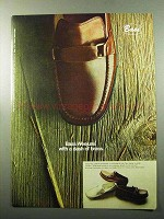 1969 Bass Weejuns Shoes Ad - With a Dash of Brass
