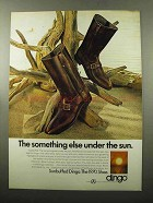 1969 Dingo Sunbuffed Boot Ad - Something Under Sun