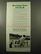 1969 Sylvania Laser System Ad - Beaming at Echo II