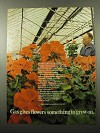 1969 American Gas Association Ad - Gives Flowers
