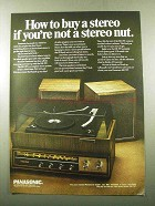 1969 Panasonic RE-767 Stereo Ad - If You're Not a Nut