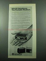 1969 Hitachi IA-51 Portable TV and KH-1316 Radio Ad