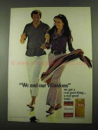 1969 Winston Cigarettes Ad - We and Our Winstons