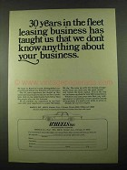 1969 Wheels Inc. Ad - The Fleet Leasing Business