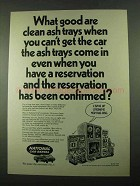 1969 National Car Rental Ad - What Good Are Ash Trays