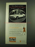 1969 Budget Rent a Car Ad - Flipped Our Fleets