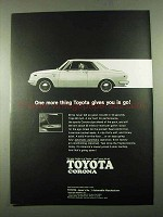 1969 Toyota Corona Car Ad - One More Thing