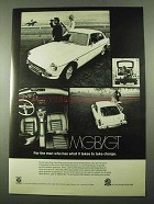 1969 MG MGB/GT Car Ad - What It Takes To Take Charge