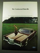 1969 Lincoln Continental Mark III Car Ad
