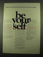 1969 Institute of Life Insurance Ad - Be Your Self