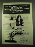 1969 The Fidelity Group of Mutual Funds Ad - Reasons