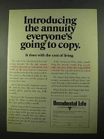 1969 Occidental Life of California Ad - The Annuity