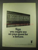1969 Reynolds & Co. Ad - Your Quest For a Fortune