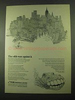 1969 CNA Insurance Ad - The Odds Were Against It
