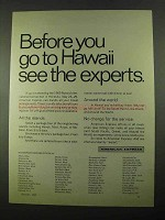 1969 American Express Ad - Before You Go to Hawaii