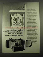1969 Paine Webber Jackson & Curtis Ad - Investment