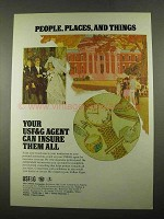 1969 USF&G Insurance Ad - People, Places and Things