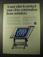 1969 New York Life Ad - Protect Close Corporation