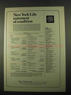 1969 New York Life Ad - Statement of Condition