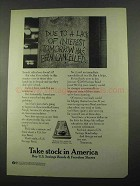 1969 U.S. Savings Bonds & Freedom Shares Ad - Tomorrow