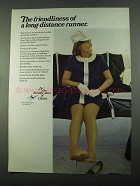 1969 United Air Lines Ad - Friendliness of a Runner