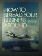 1969 Pan Am Fan Jet Falcon Ad - Spread Your Business