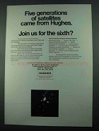 1969 Hughes Aircraft Ad - Five Generations Satellites