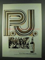 1969 Paul Jones Whiskey Ad - Have a Party Tonight