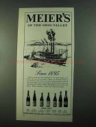 1969 Meier's Wine Ad - Of The Ohio Valley