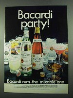 1969 Bacardi Rum Ad - Party!