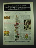 1969 Arrow Cordials Ad - For Serious, Just One, Finicky