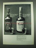 1969 George Dickel Whisky Ad - Tennessee Sour Mash