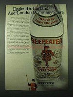 1969 Beefeater Gin Ad - England is England