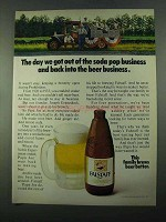 1969 Falstaff Beer Ad - We Got Out of Soda Pop Business