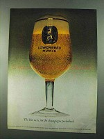 1969 Lowenbrau Beer Ad - For Champagne Pocketbook