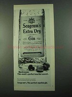 1969 Seagram's Extra Dry Gin Ad - Mushrooms