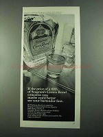 1969 Seagram's Crown Royal Bourbon Ad - Price of Fifth