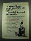 1969 Seagram's Benchmark Bourbon Ad - Consumer Reports
