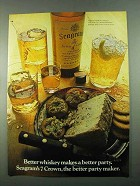 1969 Seagram's 7 Crown Whiskey Ad - Better Party
