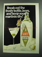 1969 Gilbey's Gin Ad - Break Out the Frosty Bottle