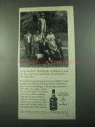 1969 Jack Daniel's Whiskey Ad - Just Like a Century Ago