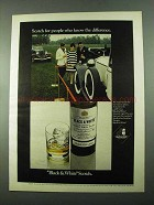 1969 Black & White Scotch Ad - People Know Difference