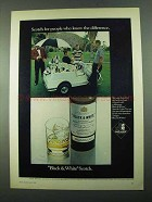 1969 Black & White Scotch Ad - People Know