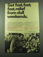 1969 U.S. Air Force Reserve Ad - Relief Dull Weekends