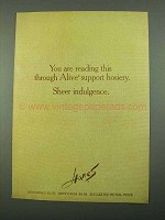 1969 Hanes Alive Support Hosiery Ad - Reading Through