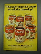 1969 Campbell's Soup Ad - Under 60 Calories These Days