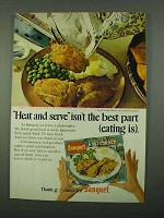1969 Banquet Fried Chicken Dinner Ad - Heat and Serve