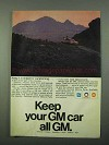 1969 GM Parts Ad - Keep it In Shape for Vacationing